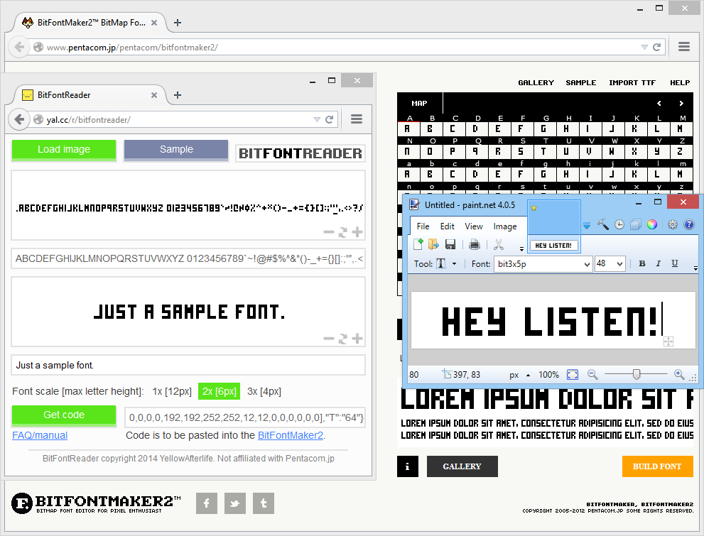 BitFontReader screenshot