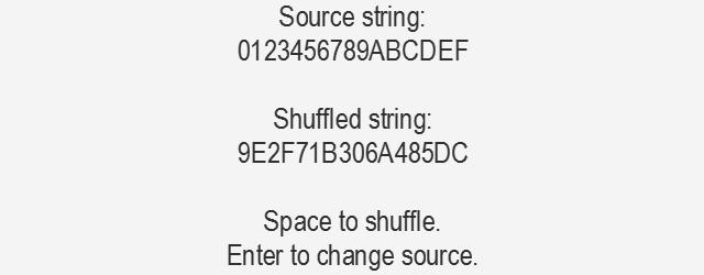 Shuffling string characters in GameMaker