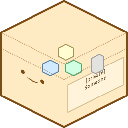 Image of a stereotypical happy chest protected by Minecraft' Bukkit' Lockette server plugin