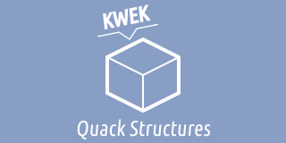 "An icon labelled Quack Structures, which has a generic data ""cube"" saying ""KWEK"""